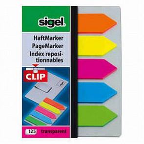 Sigel Haft-Marker Film mit Clip 52X82Mm 125Blatt Pfeil