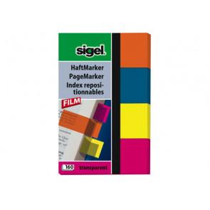 Sigel Haft-Marker 80X50Mm 4 Farben Hn614 Sigel