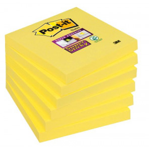 3M Post-it Haftnotiz Super-Sticky 76x76mm narzissengelb Block mit 90 Blatt