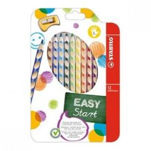 Stabilo Farbstift Easycolors 12Er Etui für Linkshänder mit Spitzer 33112
