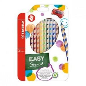 Stabilo Farbstift Easycolors 12er Etui für Rechtshänder mit Spitzer 33212