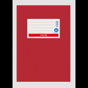 """Brunnen Heftumschlag Hefthülle Recyclingkarton DIN A5  """"Hochrot"""" (Heftschoner)"""