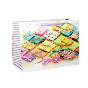 Geschenktüte Papier Geschenke Motiv - Viele schöne Geschenke - Größe: XXL
