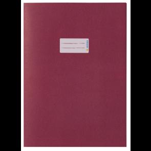 Herma Heftumschlag Papier Recycling DIN A5 Weinrot (Heftschoner)