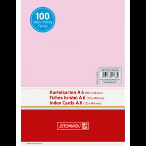 """Brunnen DIN A6 Karteikarte blanko 102260020 """"rot"""""""