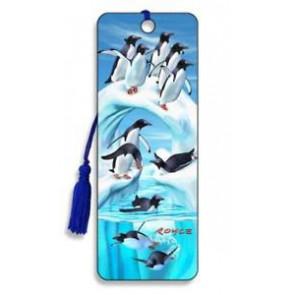 3D Lesezeichen Penguin Iceberg || Artgame