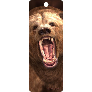 3D Lesezeichen Grizzly Bär || Artgame