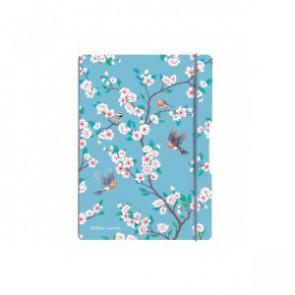 Herlitz my.book flex - Ladylike Birds blau Notizheft kariert A5 40 Blatt, gelocht mit Mikroperforation