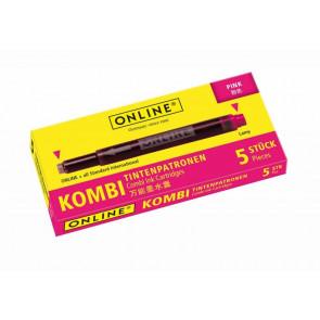 Online Tintenpatrone Kombi sortiert 5 Stück pink
