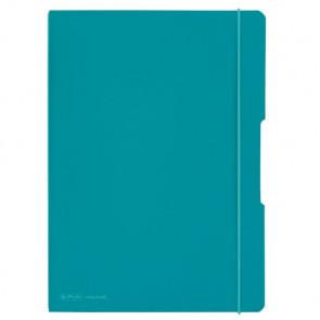 Herlitz my.book flex - türkises Notizheft kariert und liniert A4 80 Blatt