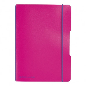 Herlitz my.book flex - pinkes Notizheft kariert A5 40 Blatt
