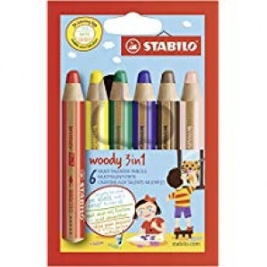 Stabilo-Woody 3in1 Farbstift 6 Packung 105886