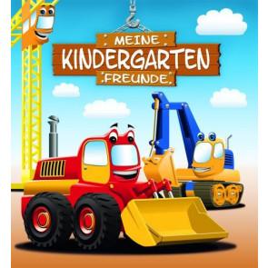 Loewe Freundebuch Kindergarten Bagger ab 3 Jahre Mit Prägung und Sportlack