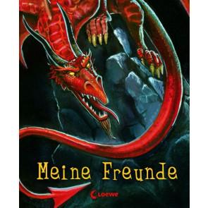 Loewe Freundebuch Drache ab 6J Hardcover mit Leseband Prägung und Sportlack