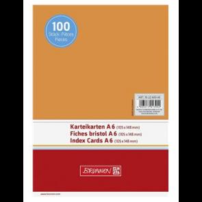 """Brunnen DIN A6 Karteikarte blanko 102260040 """"orange"""""""