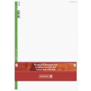 Brunnen Ringbucheinlagen DIN A4 Lineatur 20 50 Blatt unliniert