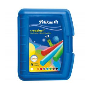 Pelikan Knete Creaplast® 9 verschiedene Farben in blauer Kunststoffbox