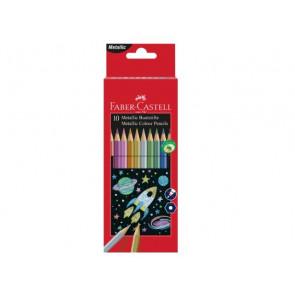 Faber-Castell Buntstifte metallic 10er Karton