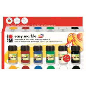 Marabu Marmorierfarben-Set easy marble 6 Farben x15 ml