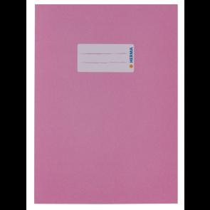 Herma Heftumschlag Papier Recycling DIN A5 Rosa (Heftschoner)