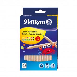 Pelikan Buntstifte Holz dreieckig jumbo 12 Stifte
