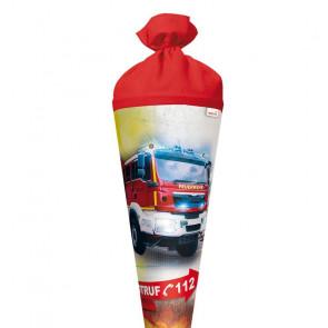 Roth Schultüte Feuerwehr, 70 cm rund mit Filzverschluss und Licht