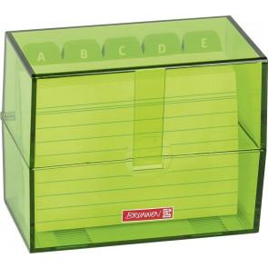 Brunnen Karteikartenbox DIN A6 dunkelgrün transparent