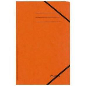 Milan Sammelmappe DIN A4 orange mit Gummizug