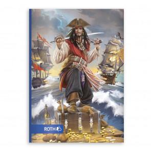 ROTH Oktavheft Pirat DIN A6, liniert