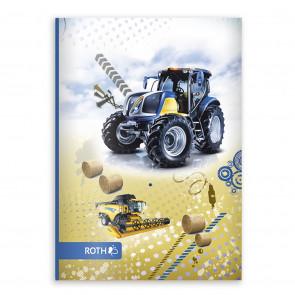 ROTH Oktavheft Traktor DIN A6, liniert