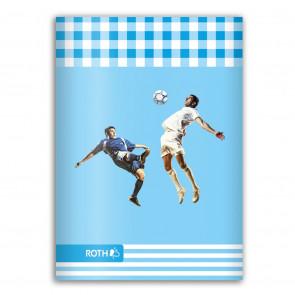 ROTH Oktavheft Fußball DIN A6, liniert