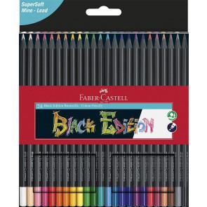 Faber-Castell 24 Black Edition Buntstifte 100% FSC