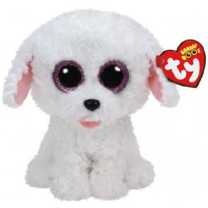 Ty Warner Plüsch Beanie Boos 15cm Glubschi Hund weiss Pippie