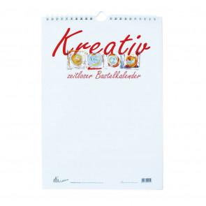 Bastelkalender A4 Kreativ weiß