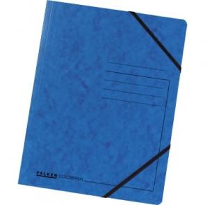 Falken Eckspanner Colorspan DIN A4 mit Gummizug blau 5er Set