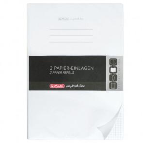 Herlitz my.book flex Refill kariert mit zwei Rändern A4 2x40 Blatt Nachfüllsatz, gelocht mit Mikroperforation