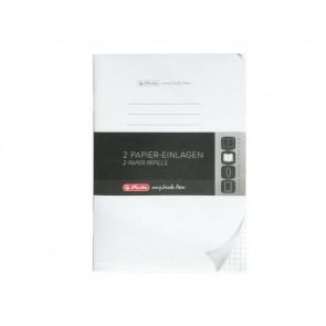 Herlitz my.book flex Refill kariert A5 2x40 Blatt Nachfüllsatz