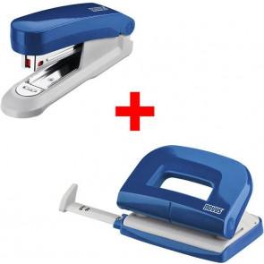 novus Locher und Heftgeräte Set E15/E210 blau