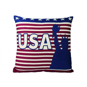 Kissen Stars and Stripes USA 100% Baumwolle 40 x 40 cm