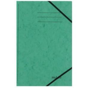 Milan Sammelmappe DIN A4 grün mit Gummizug