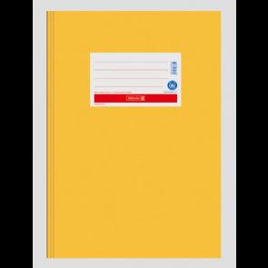"""Brunnen Heftumschlag Hefthülle Recyclingkarton DIN A5  """"gold gelb"""" (Heftschoner) 104055500"""