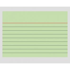 Karteikarten A7 liniert grün, 6mm Zeilenabstand, 100 Stück 102270150