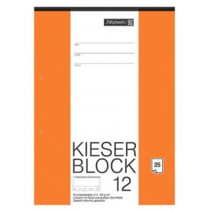 Brunnen Kieserblock A4 50 Blatt Liniatur 12 unliniert