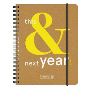 Brunnen Schülerkalender This&Next Recyclingleder A6 20/21