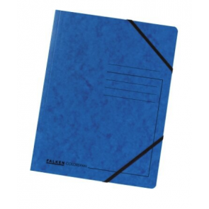 Falken Eckspanner Colorspan DIN A4 mit Gummizug blau
