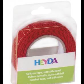 Heyda Spitzen Tape 2 m x 15 mm rot