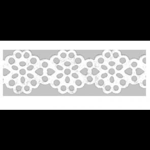 """Heyda Papierspitze selbstklebend """"Blumen"""" 2  2 m x 14 mm weiß"""