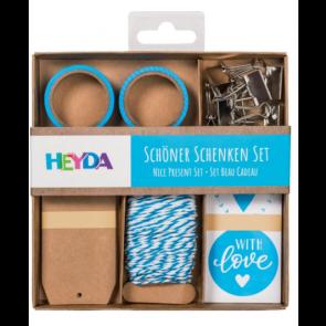 """Heyda Verpackungs-Set """"Schöner Schenken"""" in blau"""