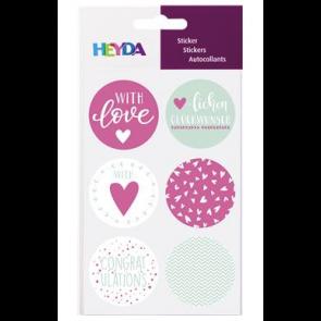 """Heyda Sticker """"Love"""" 10 x 19 cm Sticker Ø 4 cm"""