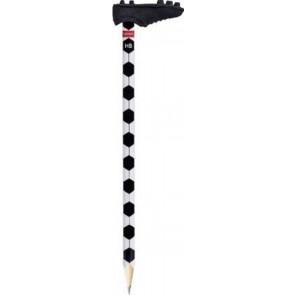 Brunnen Bleistift mit Radiergummi Fußball International Radiergummi: schwarz